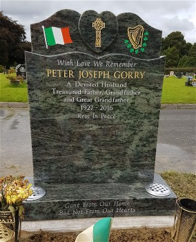 Green Granite Headstone (2)